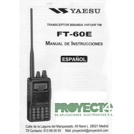Manual Instrucciones FT-60